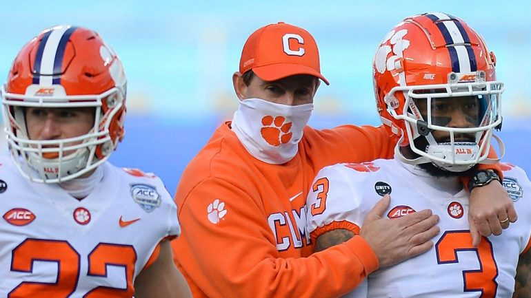 Dabo Sweeney of Clemson defends coaches' poll, says 4 teams' punished '