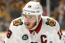 Jonathan Toes of the Chicago Black Hawks has fallen ill indefinitely