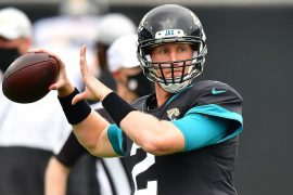 Mike Glennon starts in the middle for the Jacksonville Jaguars