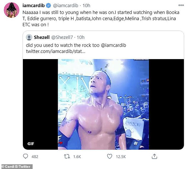 She is a fan too!  Turns out the rapper used to watch WWE