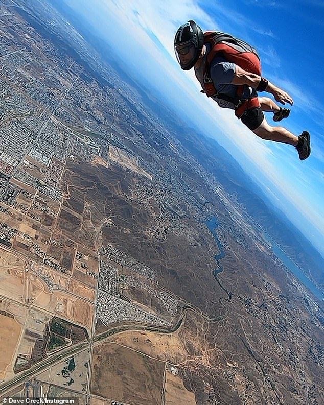 Inspiring awe: Crick's enthusiasm for skydiving was evident from his Instagram account, which included multiple stunning photos of him in mid-air