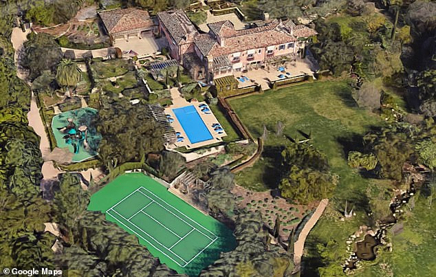 The Neighborhood: Rob said he lives one mile from Harry and Meghan's home in Montecito (pictured).  The couple also count Oprah, Ellen DeGeneres, and the neighbors