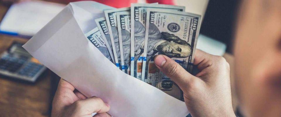 Cash envelope.