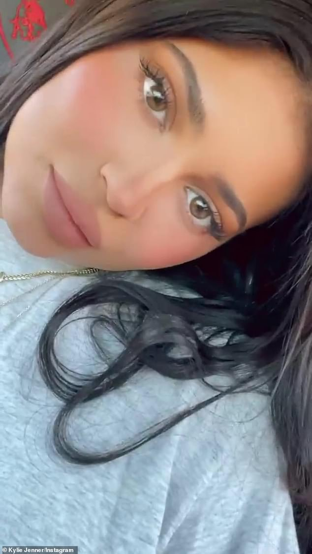 Cute as a button: The posts come after Kylie's mother, Caitlyn Jenner, lit her youngest daughter in a recent interview
