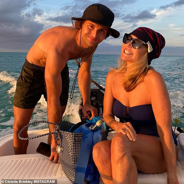 My proud mom: She's been sharing some wonderful moments from her family's journey, with her daughter Sailor Lee, 22, boyfriend Ben Sawsan, son Jacques Paris, 25, and girlfriend Nina Agdal, 28.