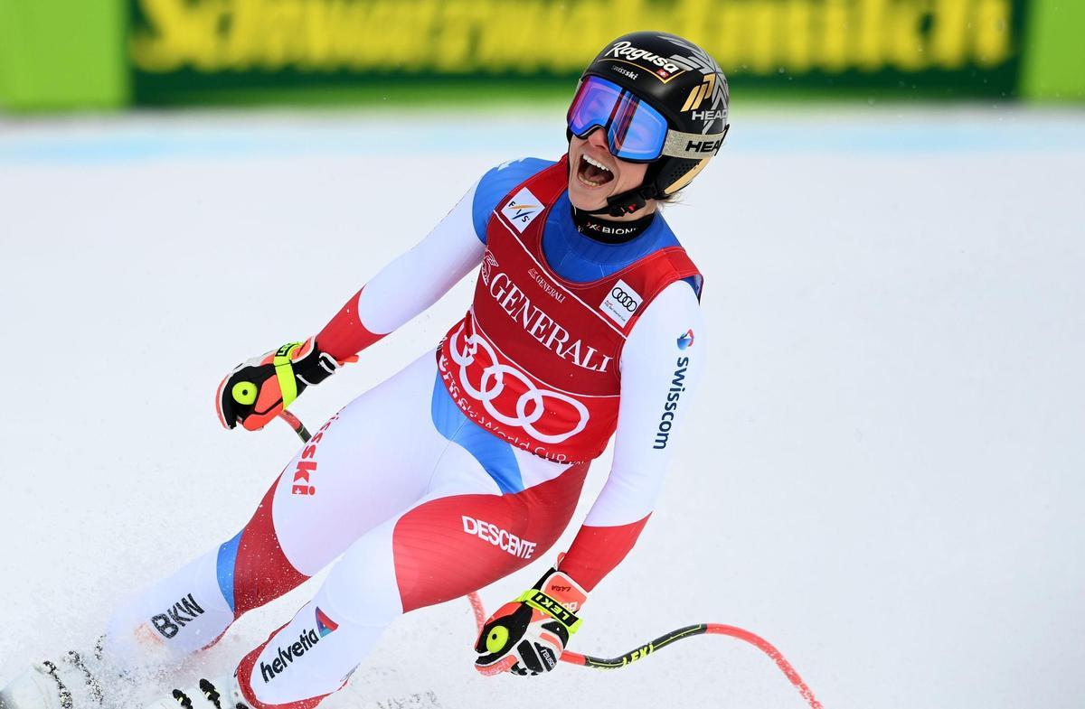 Laughing again: Lara Gott Behrami in Nihayat Garmisch.