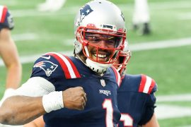 """Cam Newton of the New England Patriots says it is """"too early to tell if he will accept the QB backup job."""""""