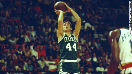 Paul Westphal played for the Boston Celtics, facing the Washington Bolts in 1975.
