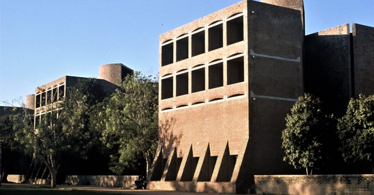 Plans for demolishing dorms designed by Lewis Kahn in India have been suspended