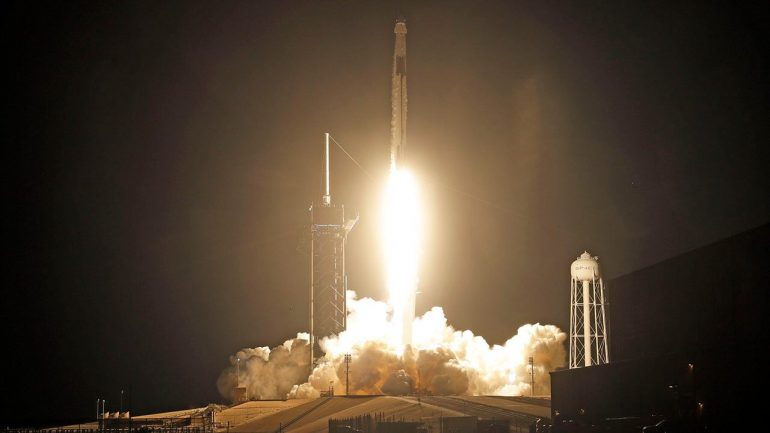SpaceX completes its first rocket launch in 2021, by sending a communications satellite