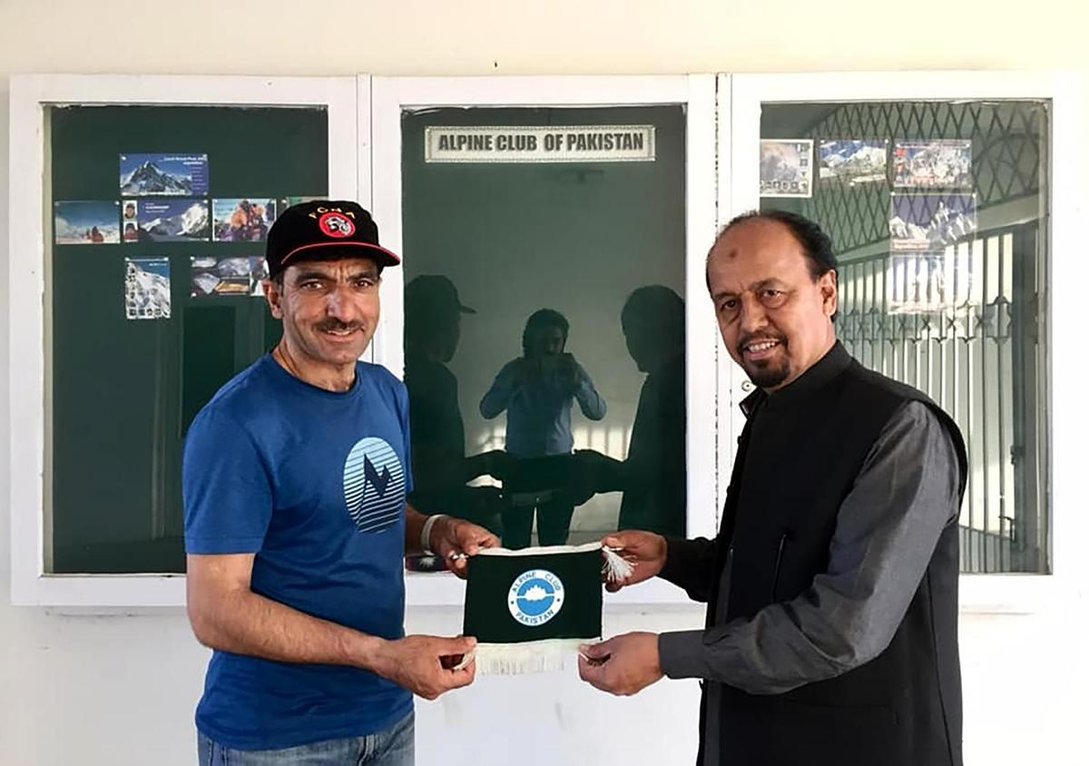 Considered an experienced mountaineer: Pakistani Muhammad Ali Sadbara (left) with Karrar Haider 2018.