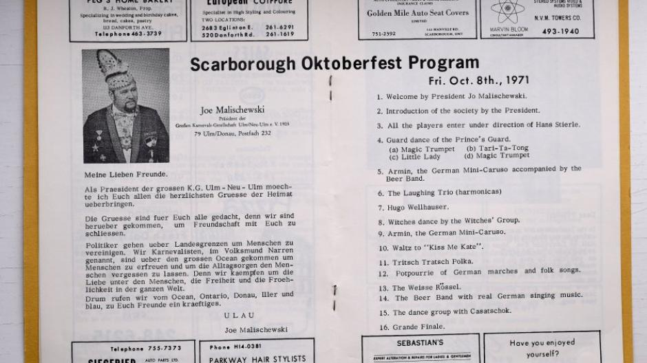 The head of Carnival Ulm at the time, Joe Malichowski, invited the program in Scarborough.