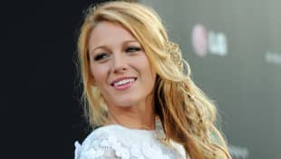Blake Lively with braided hairstyle