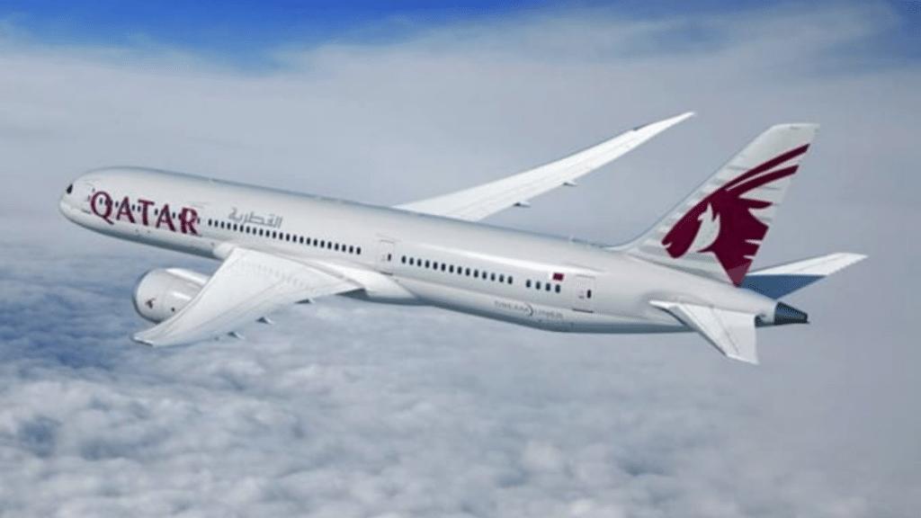 A Qatar Airways Boeing 787