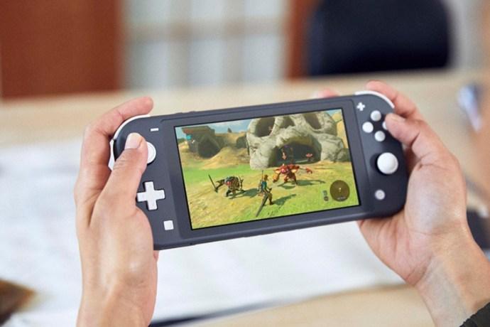 Nintendo Switch Lite head of Zelda
