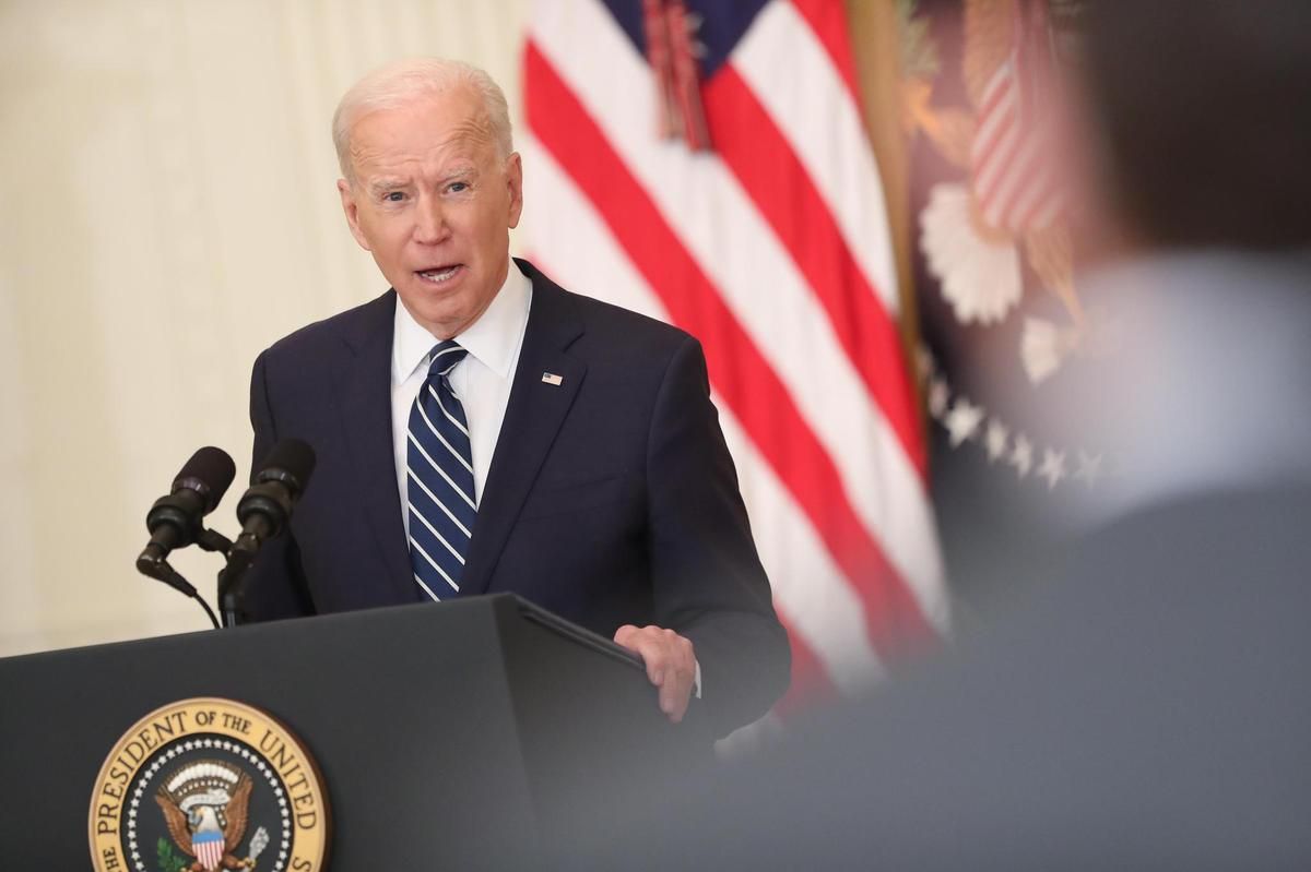 He wants to urge China to respect human rights: US President Joe Biden in his first press conference.