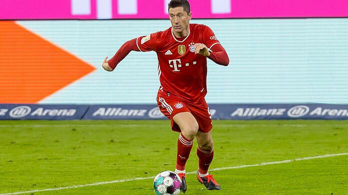 Bayern Munich indispensable support: world footballer Robert Lewandowski.