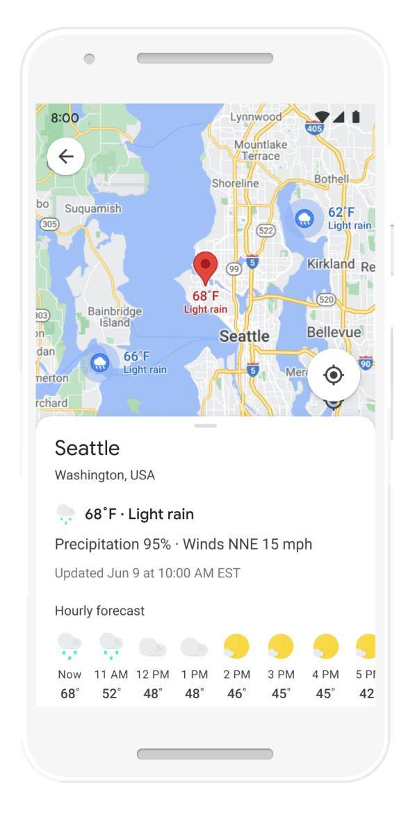 Damp google maps