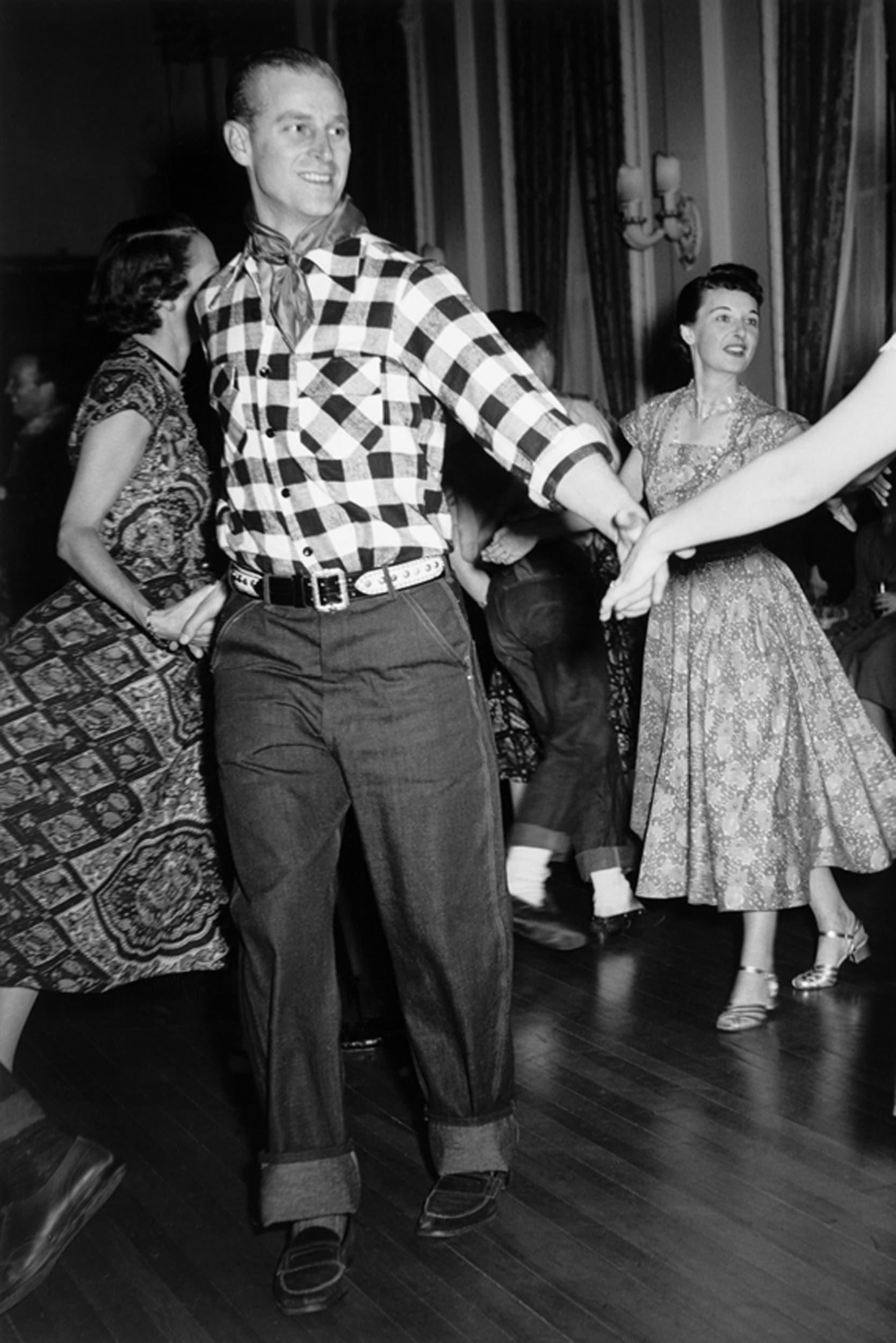 Prince Philip peering westward in Canada in 1951 (Image: Getty Images)