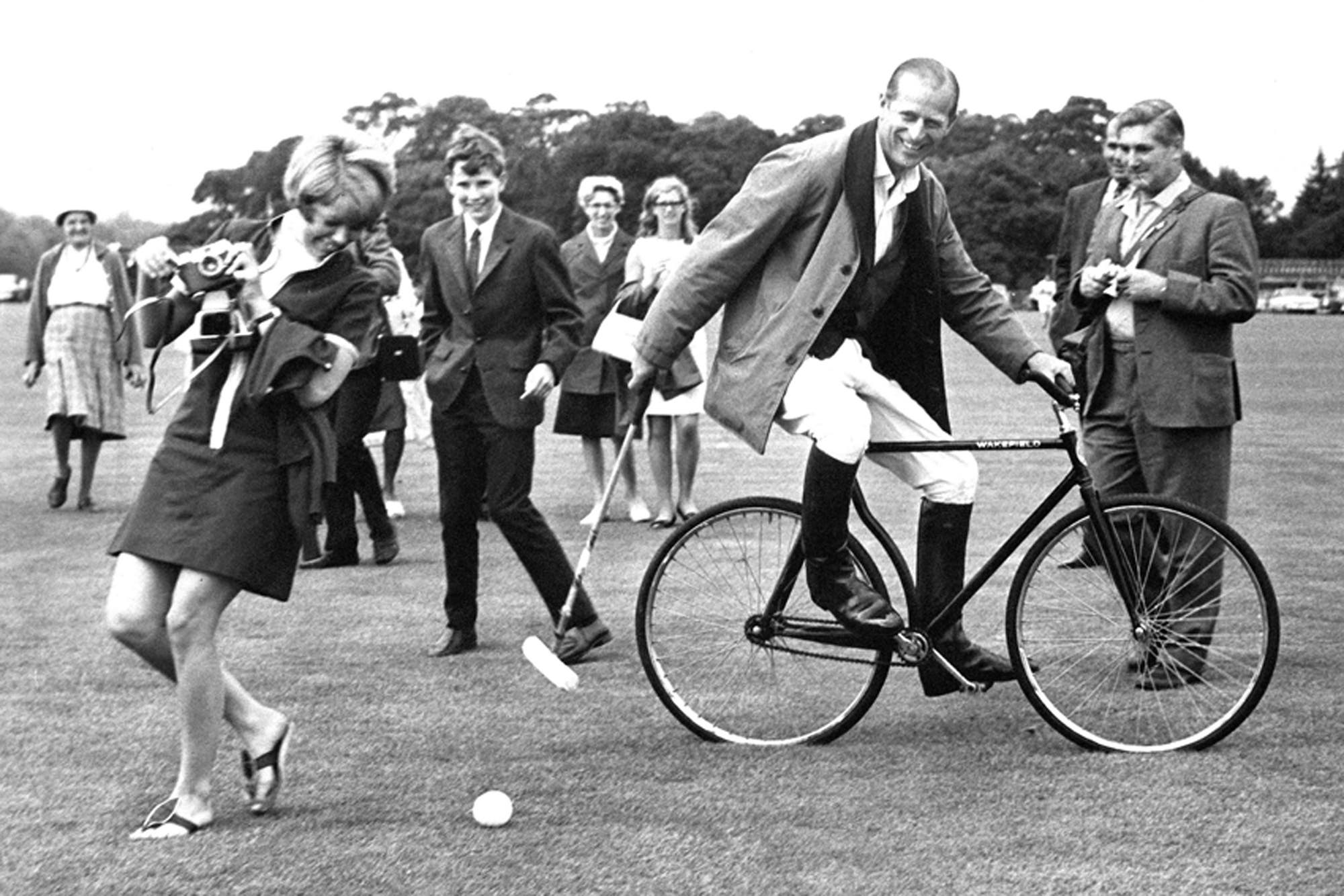Prince Philip in 1964 after one of his beloved polo games.  Image credit: Getty Images