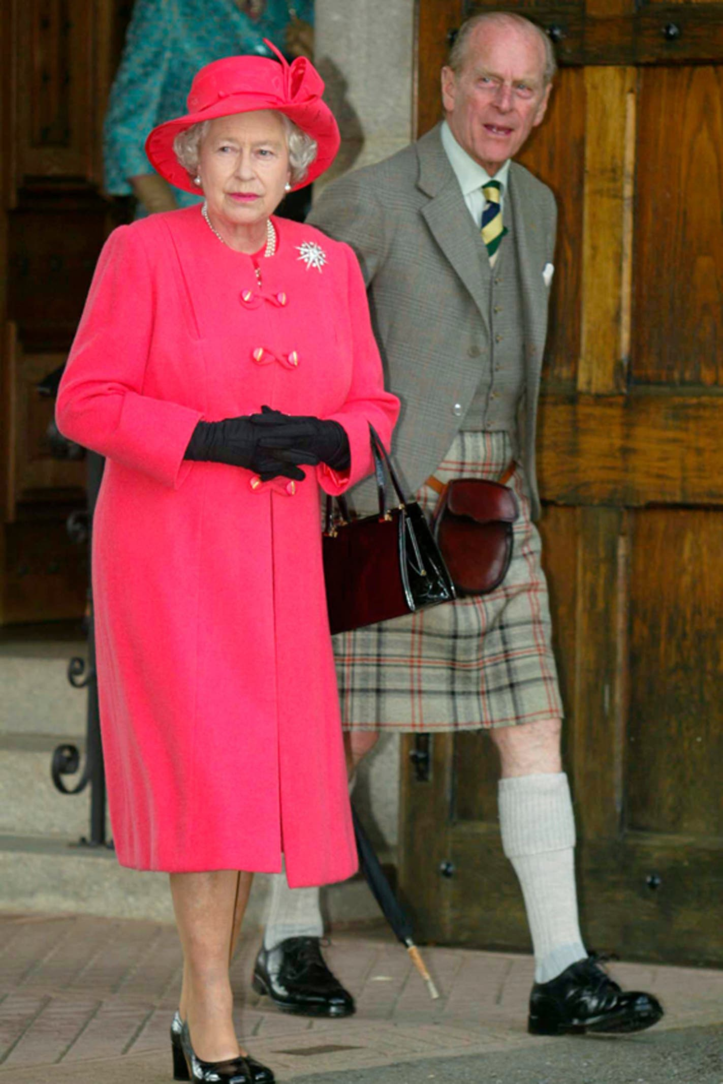 In Scotland, Queen Elizabeth II's husband always wore a kilt to formal occasions.  Image credit: Getty Images