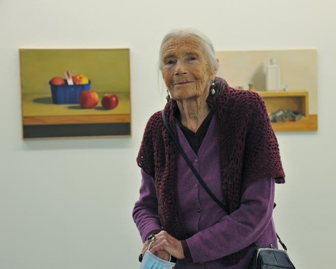 The Geneva-based artist has an amazing mental fitness despite her age.