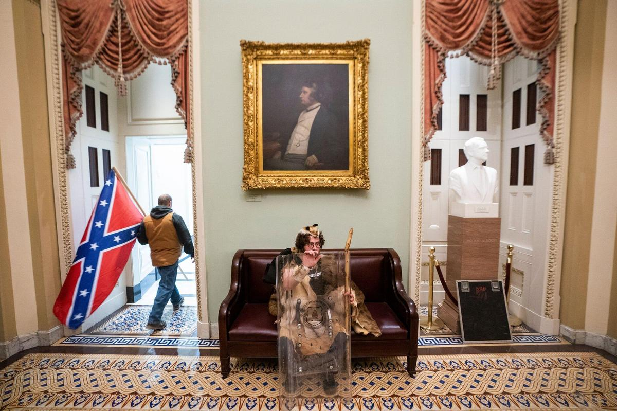 Memorable photos: Trump supporters at the Washington Capitol.
