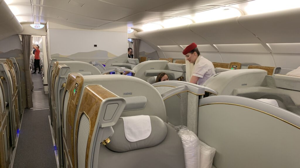 Emirates Airlines first class Airbus A380 cabin