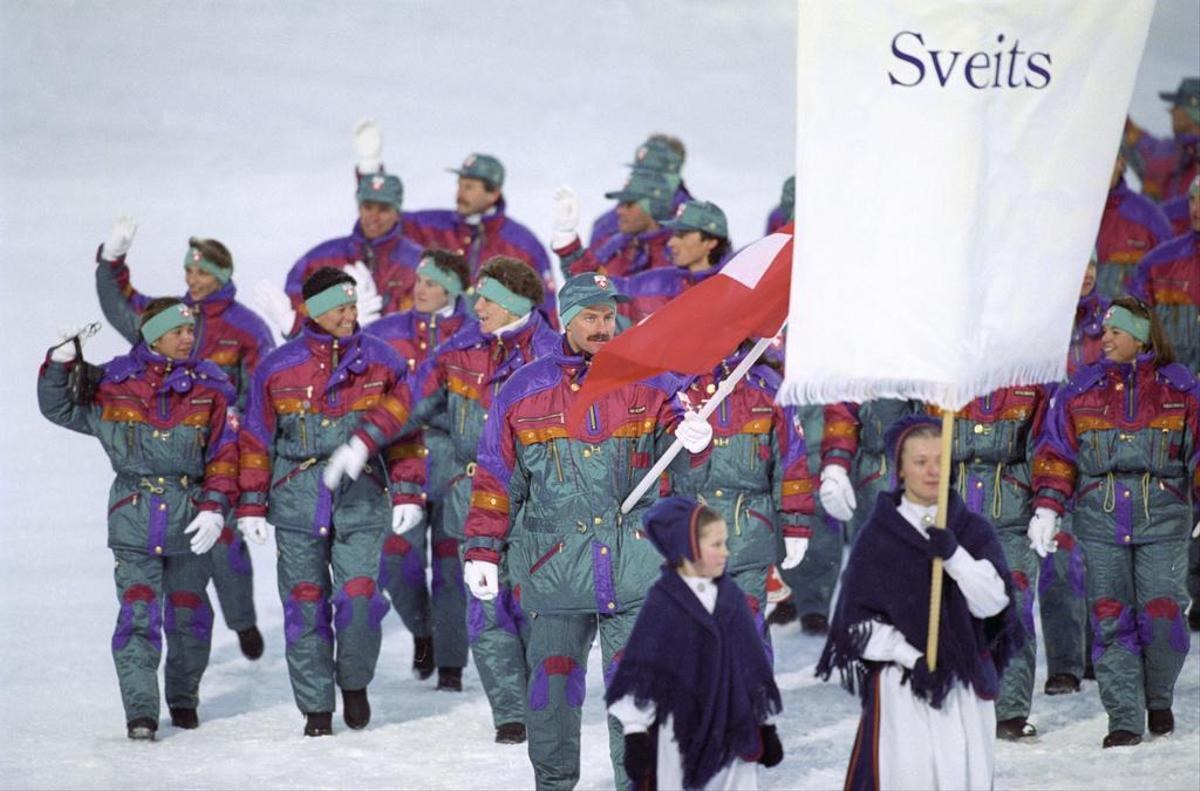 A colorful Swiss delegation invaded in 1994 at the opening ceremony of the Winter Olympics in Lillehammer, Norway.