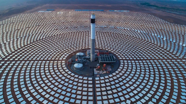 Solar power plant in Morocco: The kingdom wants to increase its production of renewable energies.  (Source: Imago / Xinhua Pictures)