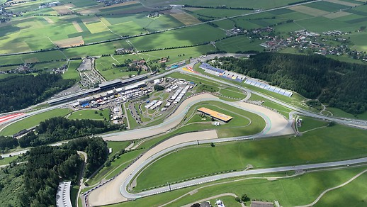 Aerial view of the Spielberg ring.