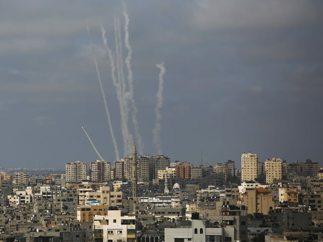 Rockets are being launched from Gaza towards Israel