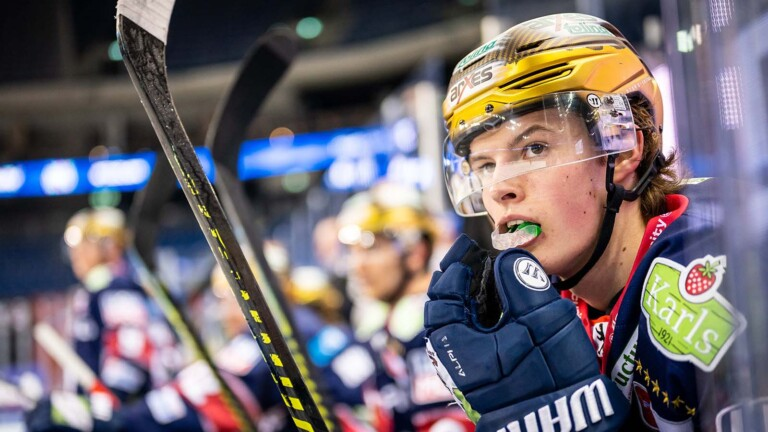 Lucas Rachel is still allowed to score goals for the polar bears this season.  Then he must succeed in the NHL with the Chicago Blackhawks (Image: City-Press GmbH)