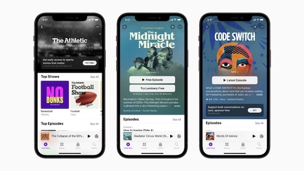 Apple offers paid podcast subscriptions.