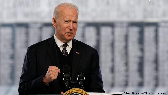 USA Präsident Joe Biden in New Castle