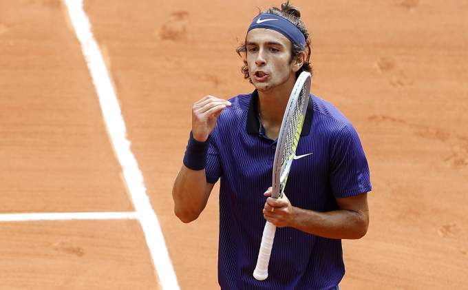 Lorenzo Mussetti Novak Djokovic