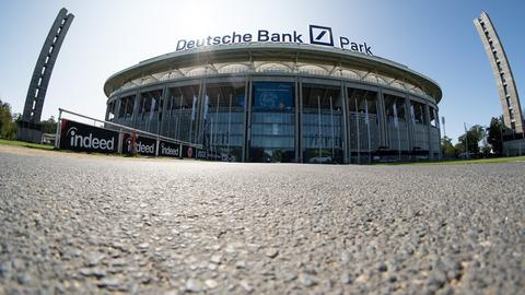 "The ""Deutsche Bank Park"" in the external view."