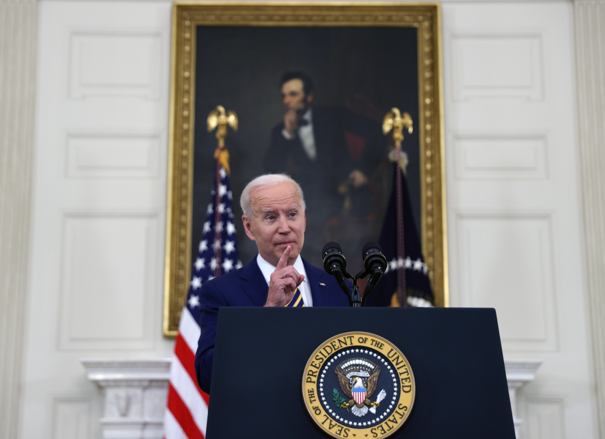 President Biden makes comments on response to Covid-19 and vaccinations