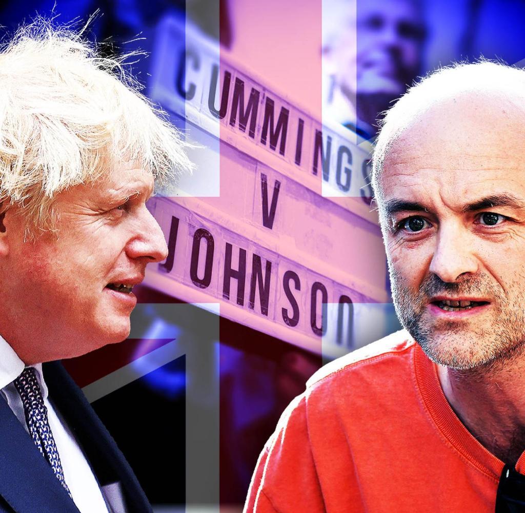Dominic Cummings (right) testifies before MPs in London against his former boss رئيس