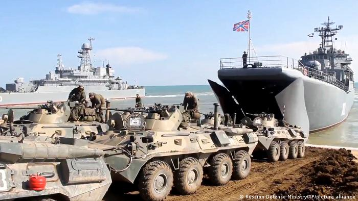 Russian exercises in Crimea in April 2021