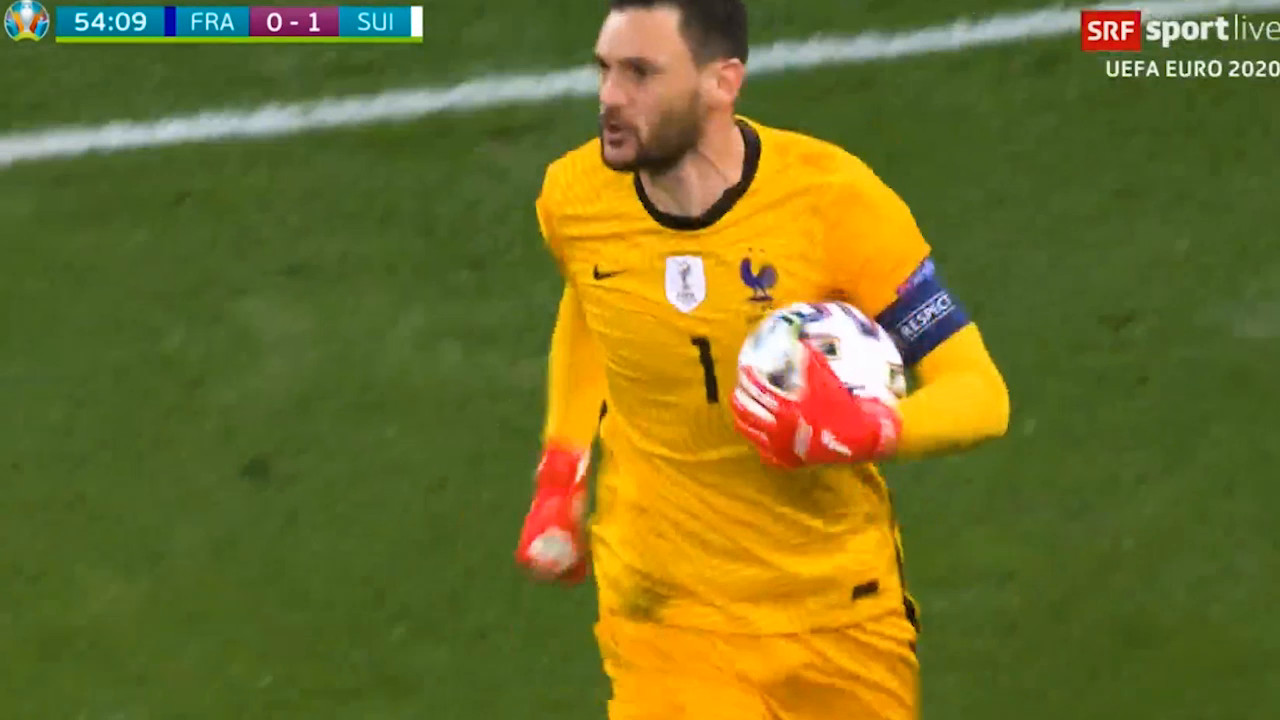 Rodriguez shoots a penalty against France