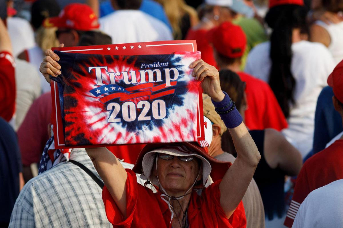 Judges didn't make Trump's defeat a victory: A Trump supporter at a June 2021 rally.