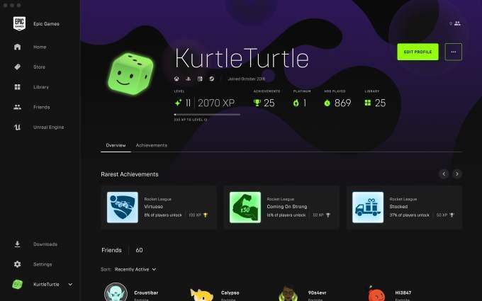 Epic Games Store Profile