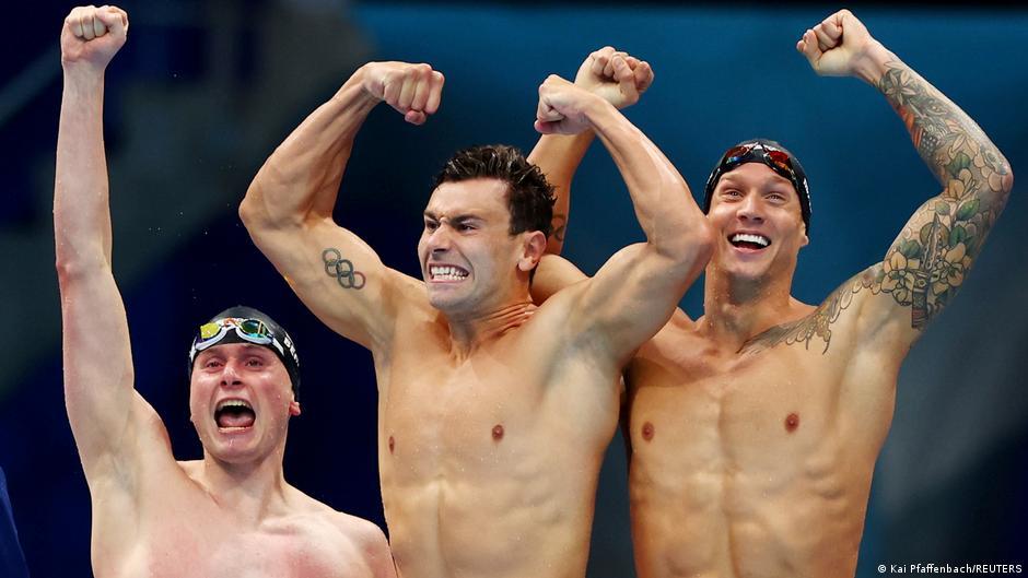 Olympia 2020 Tokyo |  Swimming Caeleb Dressel, Blake Pieroni and Bowen Becker