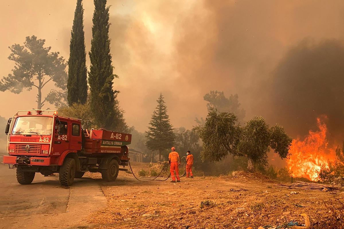 Did the fires break out in Turkey?  The authorities are investigating the suspicion.