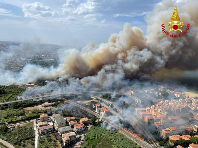 Forest fires in Abruzzo