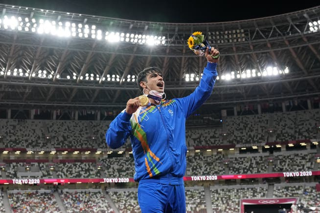 Despite the second largest population: Javelin thrower Neeraj Chopra won the 10th gold medal in the sport's history of India.