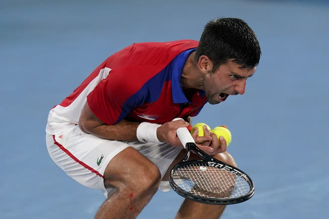 Djokovic didn't control his nerves a few times at the Olympics.