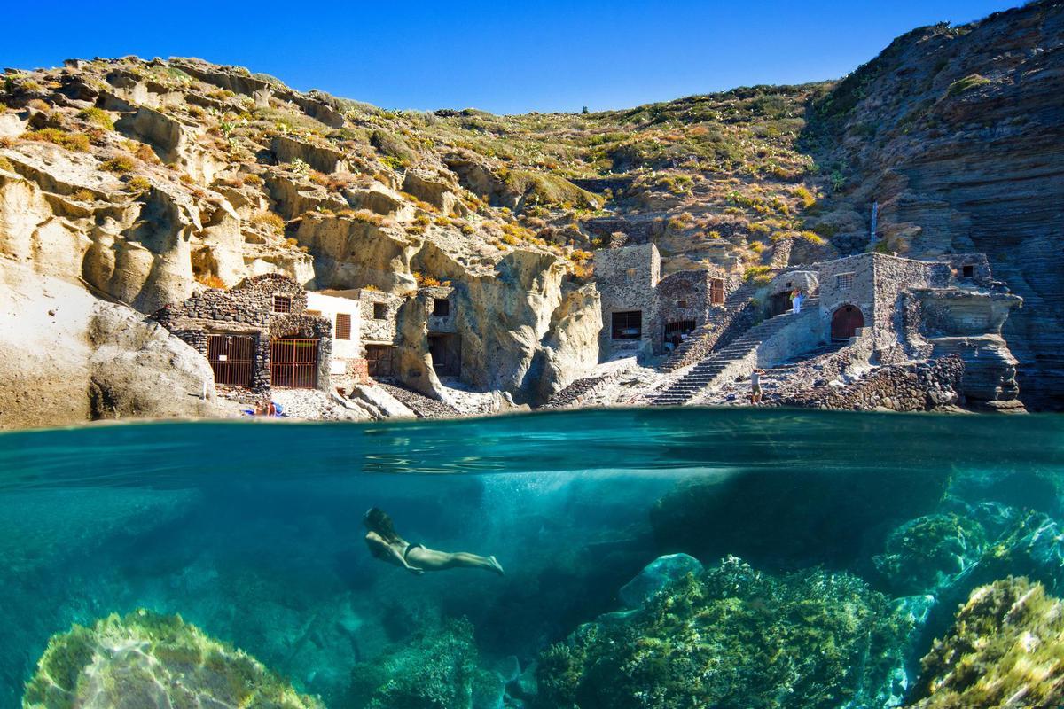 UNESCO World Heritage: Salina Island off Sicily.