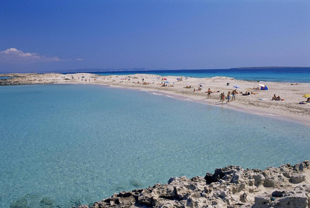 White Sands: The Playa de ses Illetes in Formentera.